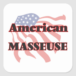 American Masseuse Square Sticker