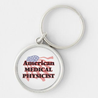 American Medical Physicist Silver-Colored Round Key Ring