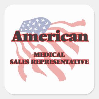 American Medical Sales Representative Square Sticker