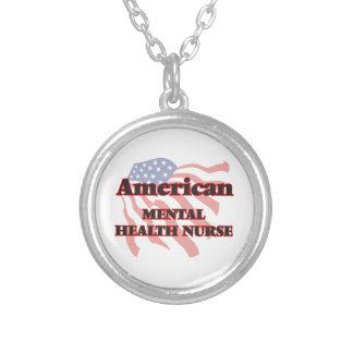 American Mental Health Nurse Round Pendant Necklace