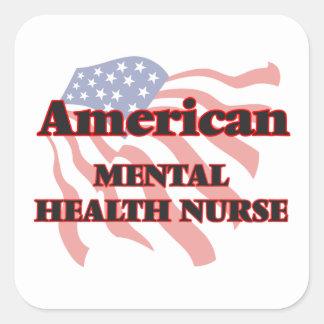 American Mental Health Nurse Square Sticker