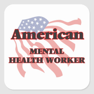 American Mental Health Worker Square Sticker