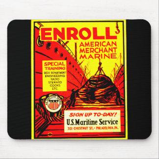 American Merchant Marine - Enroll Today ! Mouse Mat