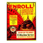 American Merchant Marine-Enroll Today Postcard