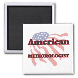 American Meteorologist Square Magnet