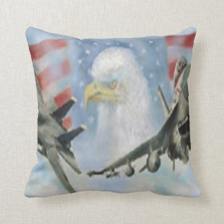 American Military Airplanes Reversible Pillow