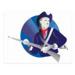 American minuteman revolutionary soldier postcard