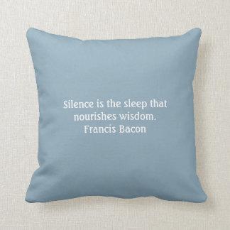 American Mojo Pillow, Silence, blue Cushion