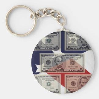 American Money & Flag Keychain