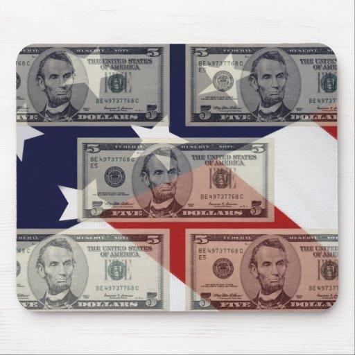 American Money & Flag Mousepad