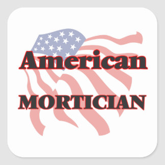 American Mortician Square Sticker