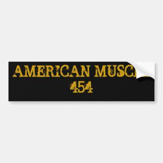 AMERICAN MUSCLE 454 CAR BUMPER STICKER