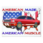 American Muscle Car 4.25x5.5 Paper Invitation Card