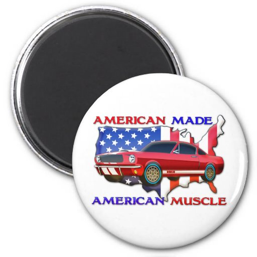 American Muscle Car 6 Cm Round Magnet