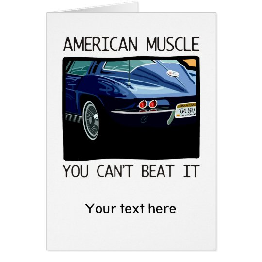 American muscle car, classic and vintage blue V8