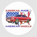 American Muscle Car Classic Round Sticker