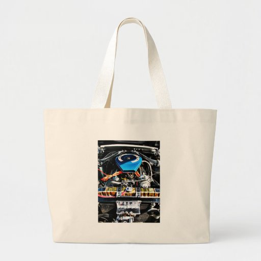 American Muscle Car Engine Tote Bag