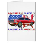 American Muscle Car Greeting Card