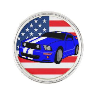 American Muscle Car Lapel Pin