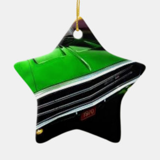 american muscle  cars charger green. christmas ornament