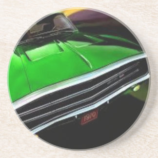 american muscle  cars charger green. coaster