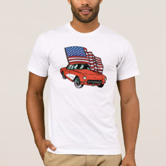 American Muscle Classic Car Destroyed T-shirt