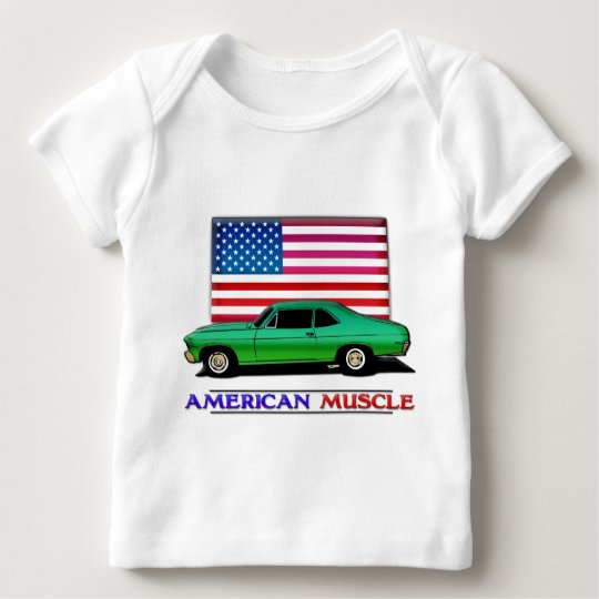 American Muscle Hotrod Baby T-Shirt