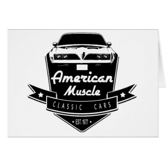 American Muscle Trans Am Greeting Card
