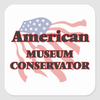 American Museum Conservator Square Sticker