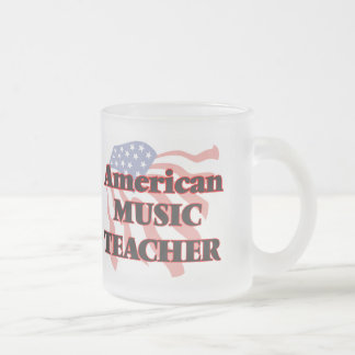 American Music Teacher Frosted Glass Mug