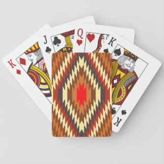american native traditional ethnic costume motif playing cards