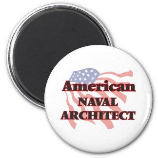 American Naval Architect 6 Cm Round Magnet