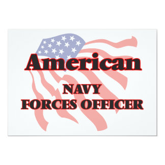 American Navy Forces Officer 13 Cm X 18 Cm Invitation Card