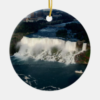 American Niagara Falls: Aerial View from Skylon Christmas Ornament