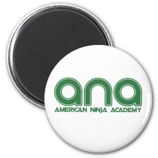 American Ninja Academy 6 Cm Round Magnet