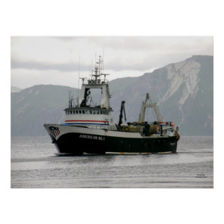 American No. 1, Factory Trawler in Dutch Harbor, A Poster