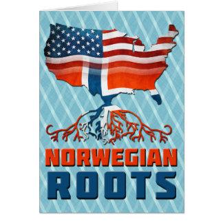 American Norwegian Roots Greeting Card