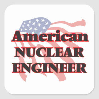 American Nuclear Engineer Square Sticker