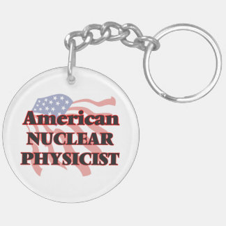 American Nuclear Physicist Double-Sided Round Acrylic Key Ring