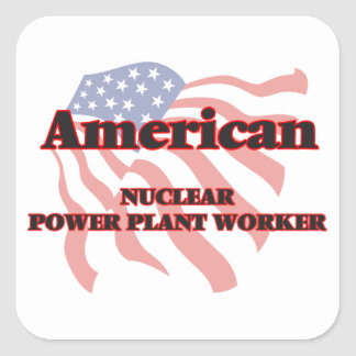 American Nuclear Power Plant Worker Square Sticker