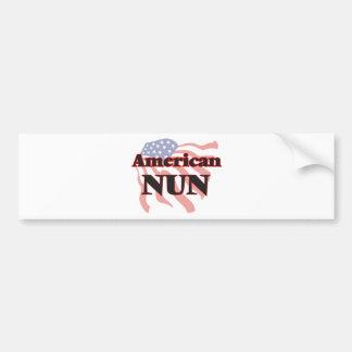 American Nun Bumper Sticker