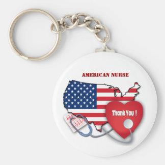 American Nurse. Nurses Day Gift Keychains