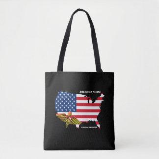 American Nurse. Patriotic Design Tote Bags