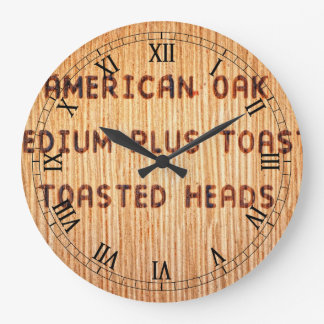 American Oak Wine Barrel Stamp Wall Clocks