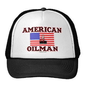 American Oilman Oil Field Hat Oil Rig Oil Gas