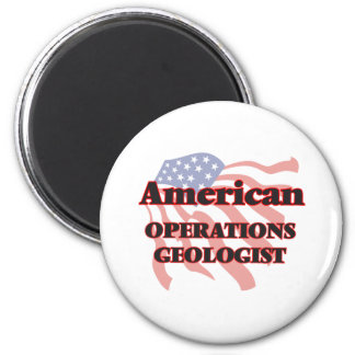 American Operations Geologist 6 Cm Round Magnet