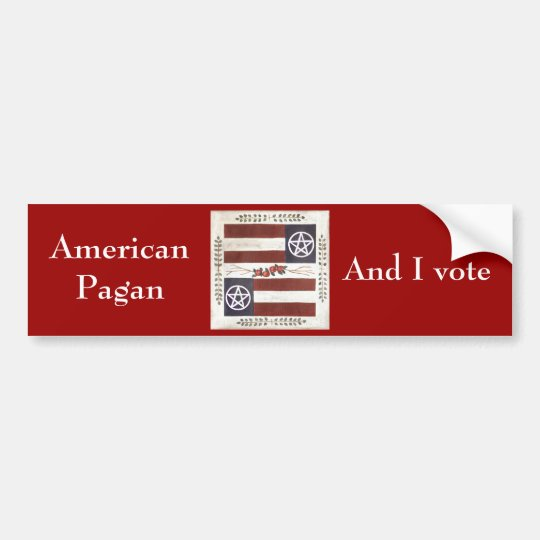 American Pagan Bumper sticker