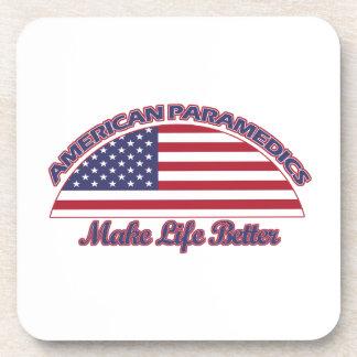 american Paramedics designs Beverage Coasters