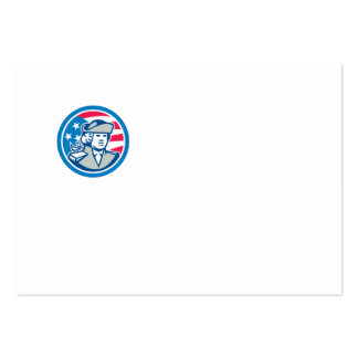 American Patriot Bust Stars and Stripes Flag Business Cards