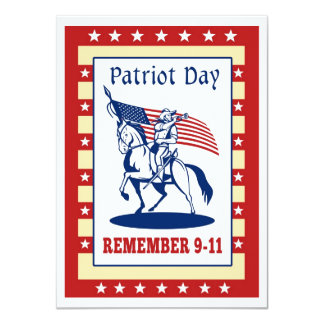 """American Patriot Day Remember 911  Greeting Card 4.5"""" X 6.25"""" Invitation Card"""